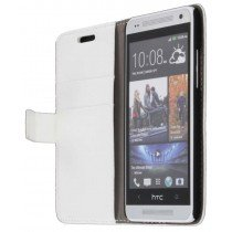 Flip case met stand HTC One Mini wit