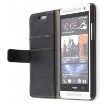 Flip case met stand HTC One Mini zwart