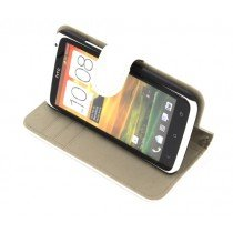 Flip case met stand HTC One X / One X+ wit