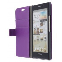Flip case met stand Huawei Ascend P6 paars