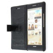 Flip case met stand Huawei Ascend P6 zwart