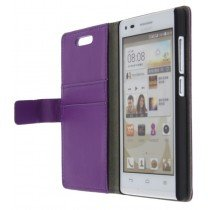 M-Supply Flip case met stand Huawei Ascend G6 paars