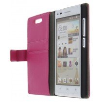 M-Supply Flip case met stand Huawei Ascend G6 roze