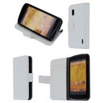 Flip case met stand LG Nexus 4 wit