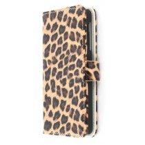 Wallet case panter print LG Nexus 5 bruin