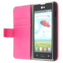 Flip case met stand LG Optimus L5 II E460 roze