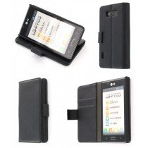 Flip case met stand LG Optimus L7 P700 zwart