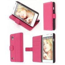Flip case met stand LG Optimus L9 P760 roze