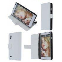 Flip case met stand LG Optimus L9 P760 wit