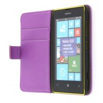 Flip case met stand Nokia Lumia 520 paars