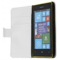 Flip case met stand Nokia Lumia 520 wit