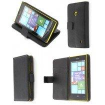 Flip case met stand Nokia Lumia 520 zwart