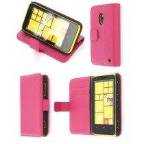Flip case met stand Nokia Lumia 620 roze