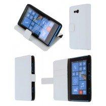 Flip case met stand Nokia Lumia 820 wit