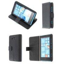 Flip case met stand Nokia Lumia 820 zwart
