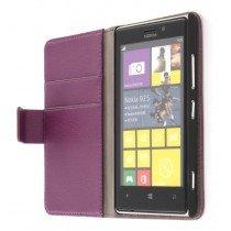 Flip case met stand Nokia Lumia 925 paars