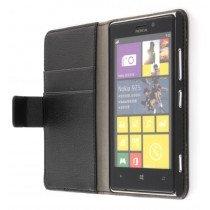 Flip case met stand Nokia Lumia 925 zwart