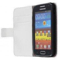 Flip case met stand Samsung Galaxy Ace 2 i8160 wit