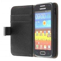 Flip case met stand Samsung Galaxy Ace 2 i8160 zwart
