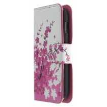 Flip case met stand Samsung Galaxy Ace 3 S7275 flowers