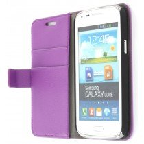 Flip case met stand Samsung Galaxy Core i8260 paars