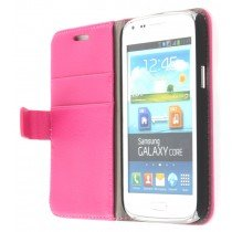 Flip case met stand Samsung Galaxy Core i8260 roze