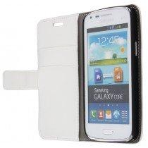 Flip case met stand Samsung Galaxy Core i8260 wit