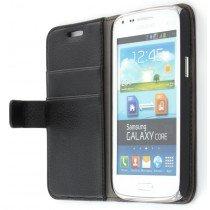 Flip case met stand Samsung Galaxy Core i8260 zwart