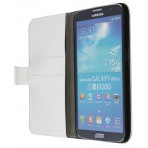 Flip case met stand Samsung Galaxy Mega i9200 wit