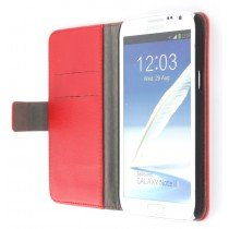 Flip case met stand Samsung Galaxy Note 2 N7100 rood