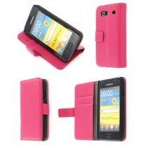 Flip case met stand Samsung Galaxy S Advance i9070 roze