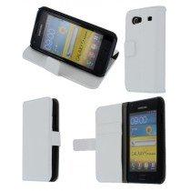 Flip case met stand Samsung Galaxy S Advance i9070 wit