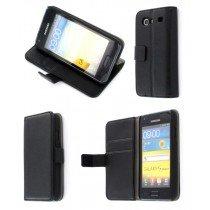 Flip case met stand Samsung Galaxy S Advance i9070 zwart