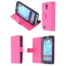 Flip case met stand Samsung Galaxy S4 Mini i9195 roze