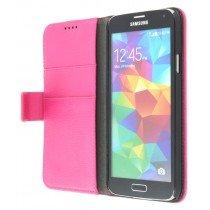 Flip case met stand Samsung Galaxy S5 G900 roze