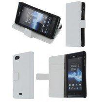 Flip case met stand Sony Xperia J wit