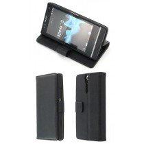 Flip case met stand Sony Xperia S zwart