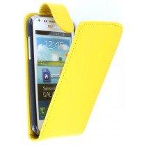 Flip case Samsung Galaxy Core i8260 geel