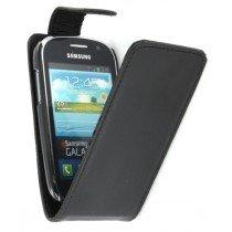 Flip case Samsung Galaxy Fame S6810 zwart