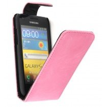 Flip case Samsung Galaxy S Advance i9070 roze