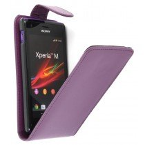Flip case Sony Xperia M paars