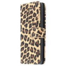 Wallet case tijgerprint Apple iPhone 5C bruin