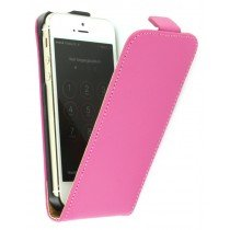 Flip case dual color Apple iPhone 5 / 5S roze