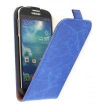 Flip hoesje leer Samsung Galaxy S4 i9505 blauw