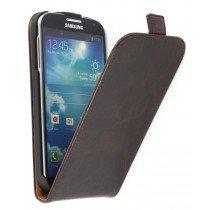 Flip hoesje leer Samsung Galaxy S4 i9505 bruin