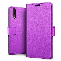 Flip wallet case Huawei P20 paars