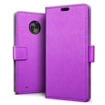 Flip wallet case Motorola Moto G6 Plus paars