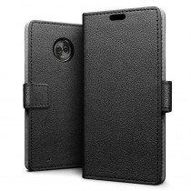 Flip wallet case Motorola Moto G6 Plus zwart