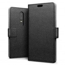 Flip wallet case OnePlus 6 zwart