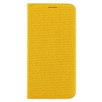 Flip Wallet fabric Samsung Galaxy S6 Edge EF-WG925BYE geel
